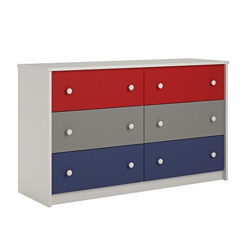 Cosco Kids Furniture Kaleidoscope 6 Drawer Dresser