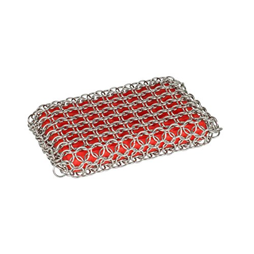 Lodge Chainmail Scrubbing Pad, Red