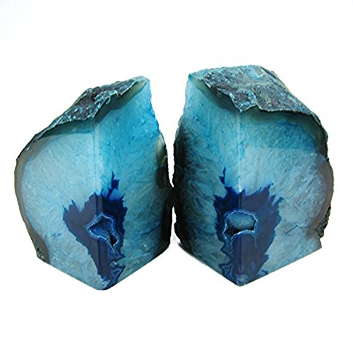 JIC Gem: Polished Dyed Green Agate Bookend(s)