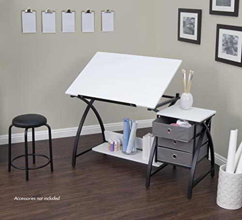 Studio Designs Comet Center with Stool, Black/White