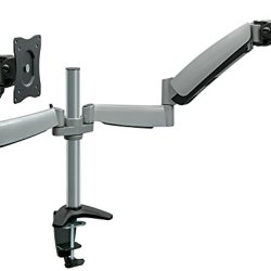 Mount-It! Monitor Desk, Mount Dual Arm With Height Adjustable