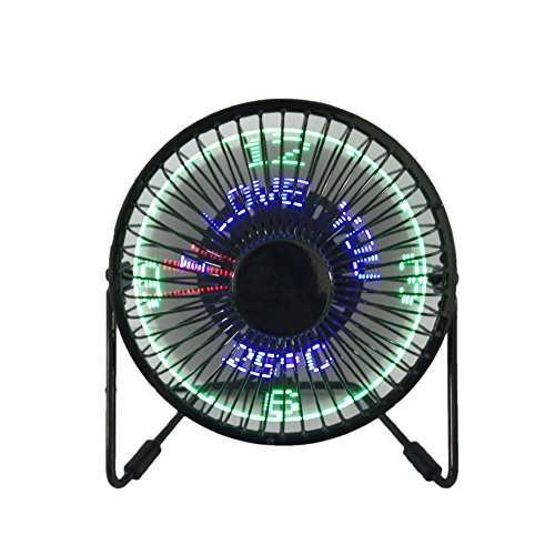 USB LED Fan JUSTUP Portable Desktop Fan