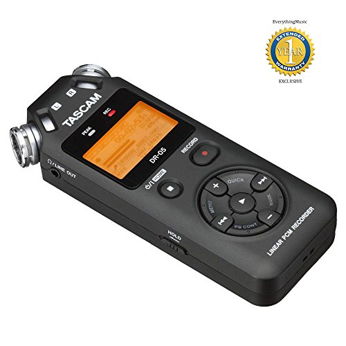 Tascam Portable Handheld Digital Audio Recorder Black