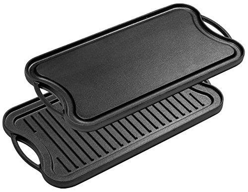 Bruntmor, Pre-Seasoned Cast Iron Reversible Grill/Griddle Pan