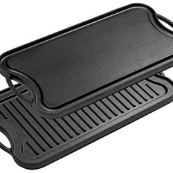 Bruntmor, Pre-Seasoned Cast Iron Reversible Grill/Griddle Pan
