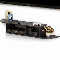 Tribesigns 2 Tier Modern Wall Mount Floating Shelf TV Console