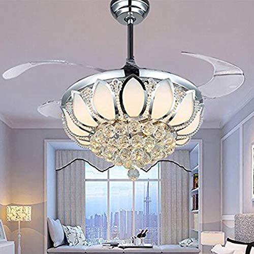 Luxury Modern Crystal Chandelier Ceiling Fan Lamp