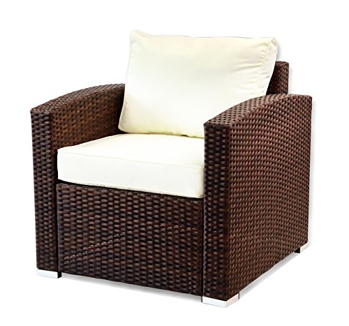 Patio Resin Outdoor Garden Deck Yard Wicker Lounge Chair