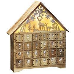 SAND MINE Countdown to Christmas Wooden Advent Calendar