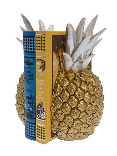 Streamline Pineapple Split - Decorative Bookend Set