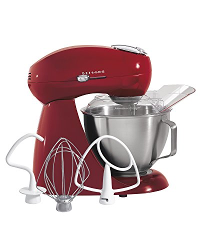 Hamilton Beach Eclectrics All-Metal Stand Mixer - Red