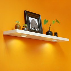 WELLAND Floating Wall Shelf with Battery Powered Touch