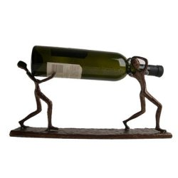 Danya B.Decorative Single Bottle Metal Wine Holder