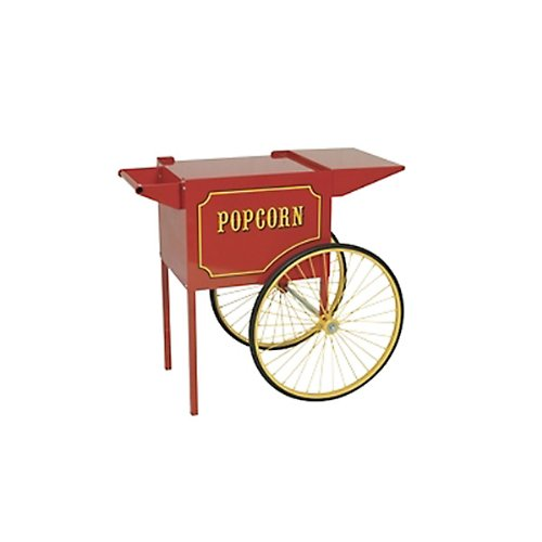 Paragon Medium Popcorn Cart for 6 and 8-Ounce Poppers (Red)