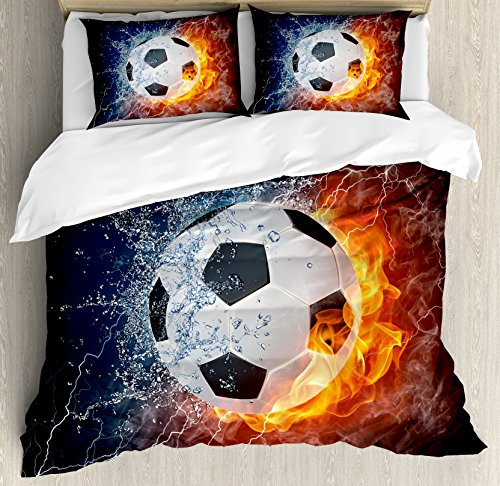 Sports Decor Queen Size Duvet Cover Set by Ambesonne