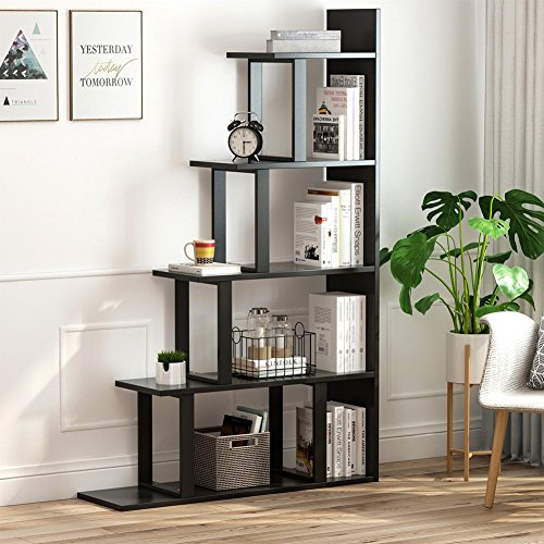 Tribesigns 5-Shelf Ladder Corner Bookshelf