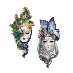 Design Toscano Peacock Feathers and Butterfly Wings Masks