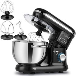 Albohes Stand Mixer, 6 Quart 600W 6 Speeds Dough Mixer