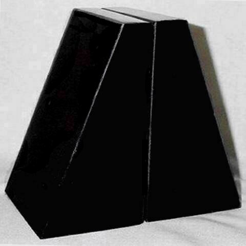 Khan Imports Large Black Marble Bookends