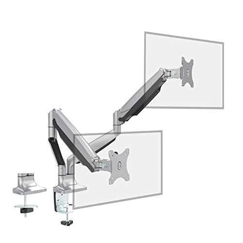 Dual Monitor Stand Mount - Fully Adjustable Aluminum