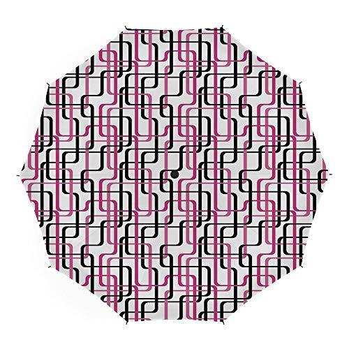 Folding Umbrella,Geometric,for Women Men Vinyl