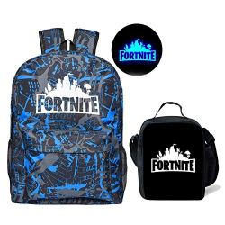 Fortnite Backpack Boy Insulated Lunch Box School Bookbag for Kids
