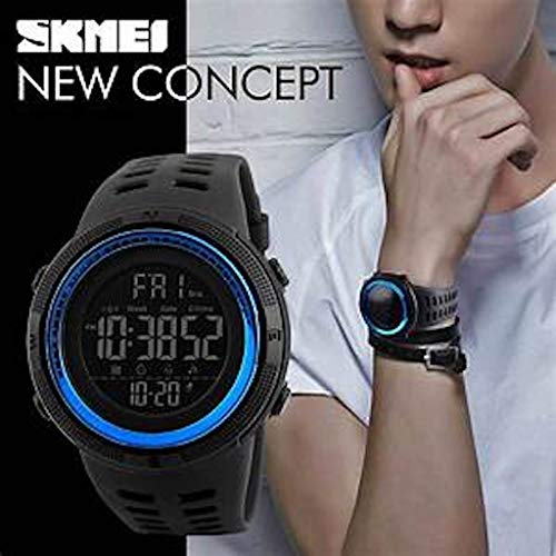 Men's Digital Sports Watch Waterproof Military Stopwatch