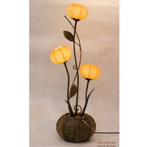 Mulberry Rice Paper Ball Handmade Three Flower Bud Design