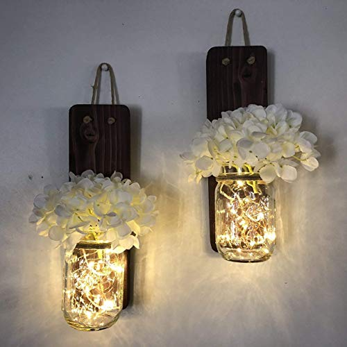 Tennessee Wicks Rustic Mason Jar Wall Sconce Set of Two