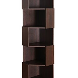 Furniture of America Bassey 5-Shelf Bookcase Display Stand