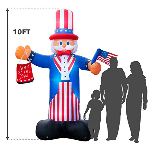 Giant 10 Ft. Tall Holidayana 4th Of July Inflatable Uncle Sam