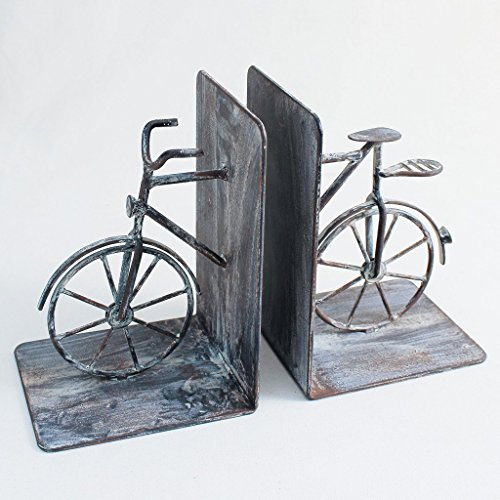 Time Concept Handmade Iron Bookend Pair - Bicycle
