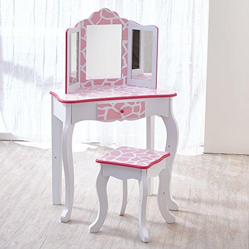 Teamson Kids - Fashion Prints Girls Vanity Table