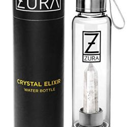ZURA Clear Quartz Crystal Infused Water Bottle