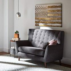 Rivet Modern Geometric Wool Rug, 8' x 10', Blue