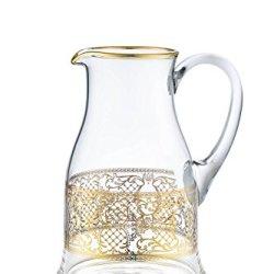 Rose's Glassware Fine Italian Decorative Glass Pitcher