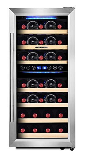 Phiestina 33 Bottle Wine Cooler Double Zone Steel Do