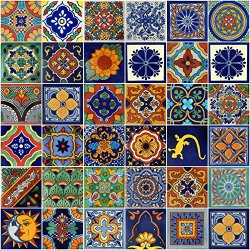 Color y Tradicion Mexican Tiles 4x4 Handpainted