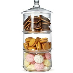 MyGift 16 inch 3 Tier Stacking Apothecary Jars