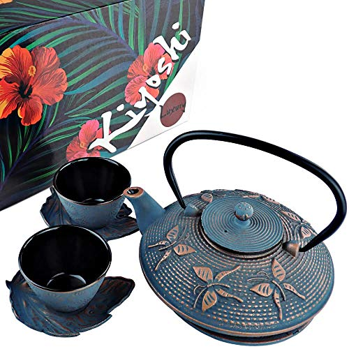 KIYOSHI Luxury Japanese Cast Iron Tea Set 7 Pieces