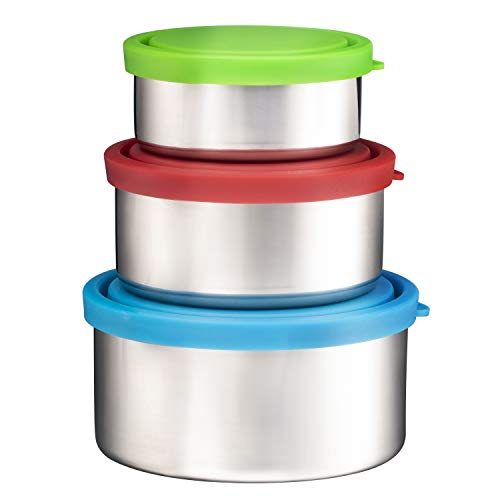 Bruntmor Trio Nesting 18/8 Stainless Steel Food Containers