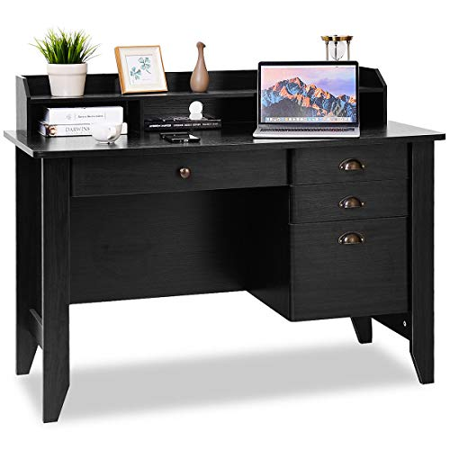 TANGKULA Computer Desk Home Office Wood