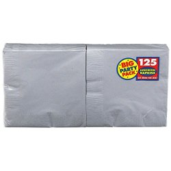 Amscan Silver Luncheon Napkins Big Party Pack, 125 Ct.