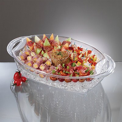 "Prodyne AB-7 Buffet on ice, 19.75"" x 11.75"", Clear"