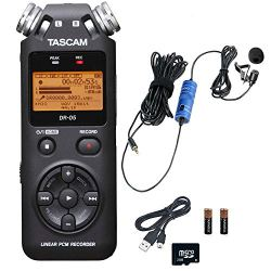 Tascam Portable Handheld Digital Audio Recorder Bundle