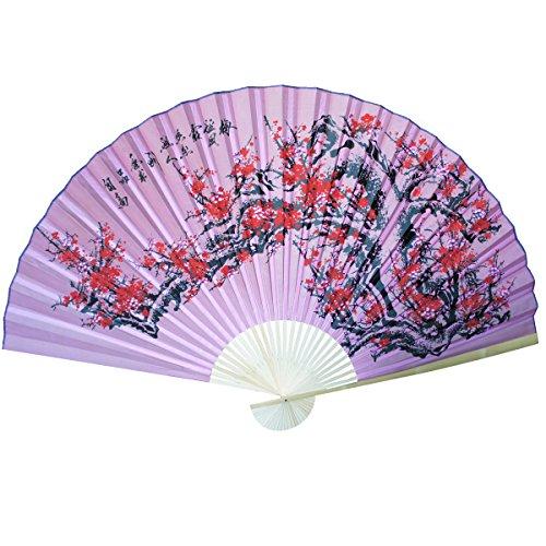"Large 84"" Folding Chinese Wall Fan Oriental Paper Hanging"