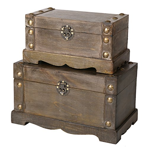 SLPR Remington Wooden Trunk | Decorative Storage Trunk Vintage