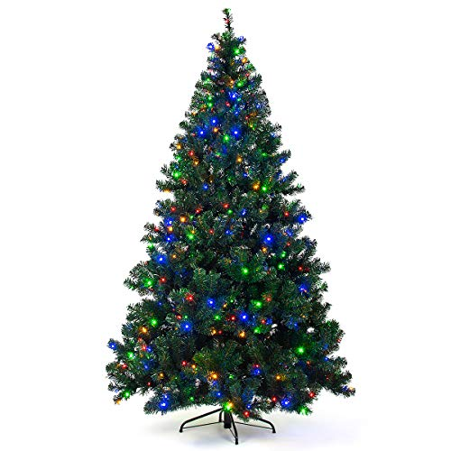 Goplus Artificial Christmas Tree Premium Spruce Hinged Tree
