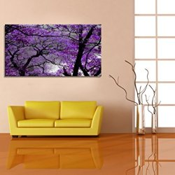 youkuart Canvas Prints Purple tree Framed Canvas