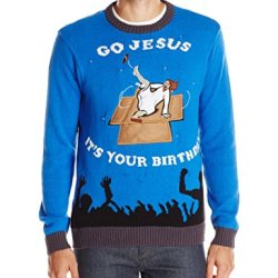 Blizzard Bay Men's Breakdancing Jesus Ugly Christmas Sweater